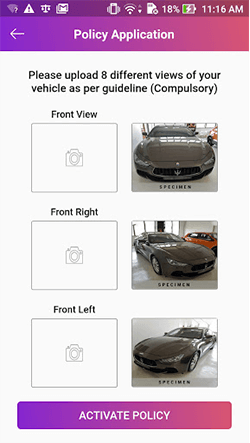 App Screenshot for Upload Photos of Your Vehicle